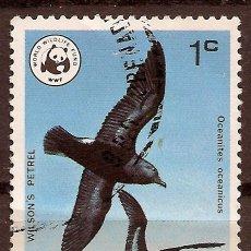 Sellos: GRENADA - PAJARO DE WWF (WORLD WILDLIFE FUND)- USADO. Lote 260363200