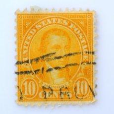 Sellos: SELLO POSTAL ESTADOS UNIDOS 1925, 10 C.JAMES MONROE,*** INPERFECCIONES DE COLOR, USADO. Lote 261138880