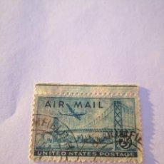 Sellos: SELLO POSTAL DE EE.UU. 25C SAN FRANCISCO AIRMAIL STAMP DE 1947 .. Lote 261867020