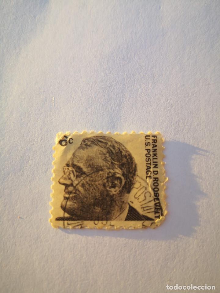 SELLO USA 6C FRANKLIN D ROOSEVELT (Sellos - Extranjero - América - Estados Unidos)