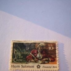 Sellos: SELLO USA 10C HAYM SALOMON 1981. Lote 261870860