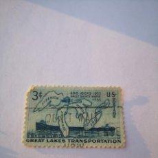 Sellos: SELLO USA 3C GREAT LAKES TRANSPORTATION. Lote 261870990