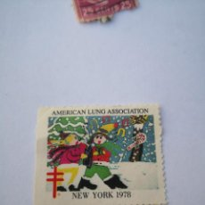 Sellos: SELLO AMERICAN LUNG ASSOCIATION 1978 NEW YORK. Lote 261871700