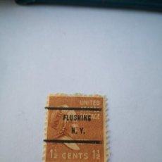 Sellos: SELLO DE ESTADOS UNIDOS 1 1/2 C MARTHA WASHINGTON, PRESIDENCIAL, (1938). Lote 261872150
