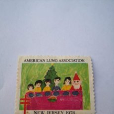 Sellos: SELLO USA AMERICAN LUNG ASSOCIATION NEW JERSEY 1978. Lote 261873745