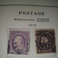 Sellos: 2 SELLOS USA 1912. Lote 262270875