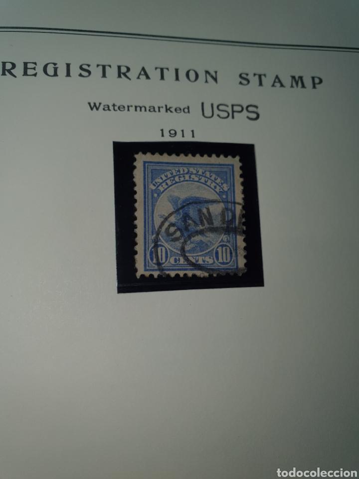 1 SELLO USA REGISTRATION STAND 1911 (Sellos - Extranjero - América - Estados Unidos)