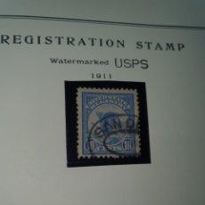 Sellos: 1 SELLO USA REGISTRATION STAND 1911. Lote 262276395
