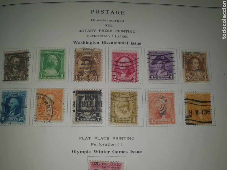 10 SELLOS USA 1932 WASHINGTON BICENTENARIO (Sellos - Extranjero - América - Estados Unidos)