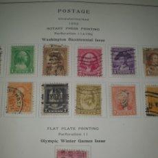 Sellos: 10 SELLOS USA 1932 WASHINGTON BICENTENARIO. Lote 262700335