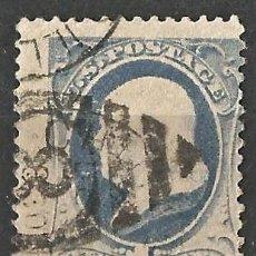Sellos: ESTADOS UNIDOS - 1870 - BENJAMIN FRANKLIN - 1C - AZUL - USADO.. Lote 263197040