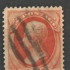 Sellos: ESTADOS UNIDOS - 1870 - ANDREW JACKSON - 2C - ROJO - USADO.. Lote 263197380