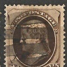 Sellos: ESTADOS UNIDOS - 1870 - T. JEFFERSON - 2C - MARRON - USADO.. Lote 263197555
