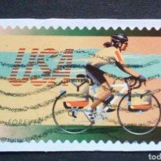 Sellos: USA 2012 CICLISMO SELLO USADO NO LAVABLE. Lote 263646375