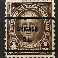 Sellos: 1922 - HALE - 1/2C - CHICAGO. Lote 268464679