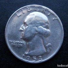 Sellos: ESTADOS UNIDOS USA MONEDA PLATA 1/4 DOLLAR AÑO 1953. CONSERVACIÓN SC LUJO. Lote 269491303