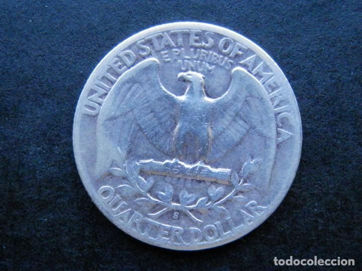 Sellos: ESTADOS UNIDOS USA MONEDA PLATA 1/4 QUARTER DOLLAR AÑO 1943. CONSERVACIÓN MBC - Foto 2 - 269645938