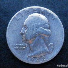 Sellos: ESTADOS UNIDOS USA MONEDA PLATA 1/4 QUARTER DOLLAR AÑO 1942. CONSERVACIÓN BC. Lote 269647428