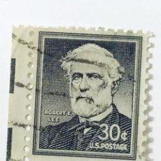 Sellos: SELLO DE ESTADOS UNIDOS 30 C - 1955 - ROBERT LEE - USADO SIN SEÑAL DE FIJASELLOS. Lote 269963613