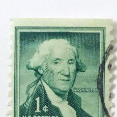 Sellos: SELLO DE ESTADOS UNIDOS 1 C - 1954 - WASHINGTON - USADO SIN SEÑAL DE FIJASELLOS. Lote 269976508