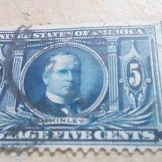 Sellos: SELLO 5C AZUL OSCURO WILLIAM MCKINLEY, 1843-1901 DE 1904. Lote 275035658