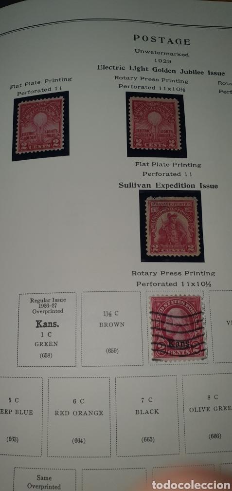 HOJA 4 SELLOS USA 1929 (Sellos - Extranjero - América - Estados Unidos)