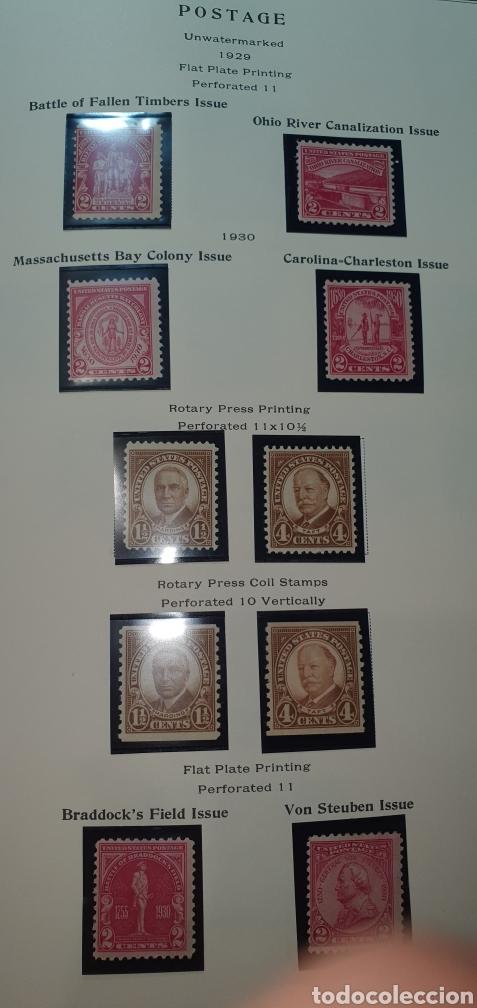 HOJA 10 SELLOS USA 1929,30 (Sellos - Extranjero - América - Estados Unidos)