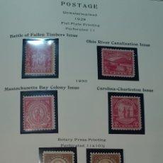 Sellos: HOJA 10 SELLOS USA 1929,30. Lote 276940843