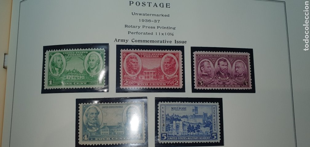 Sellos: Hoja 10 sellos usa 1936,37 - Foto 2 - 276944273