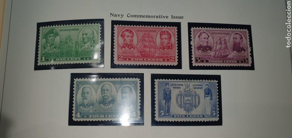 HOJA 10 SELLOS USA 1936,37 (Sellos - Extranjero - América - Estados Unidos)