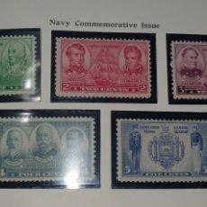 Sellos: HOJA 10 SELLOS USA 1936,37. Lote 276944273