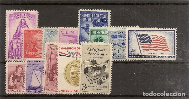 ESTADOS UNIDOS AÑO 1957 YVERT 623/635** MNH 13 VALORES NL1587 (Sellos - Extranjero - América - Estados Unidos)
