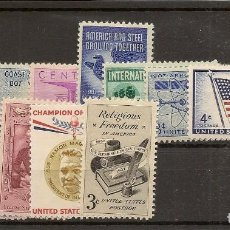 Sellos: ESTADOS UNIDOS AÑO 1957 YVERT 623/635** MNH 13 VALORES NL1587. Lote 278399583