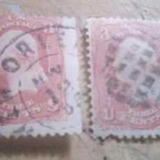 Sellos: 2 SELLOS DE GEORGE WASHINGTON, 1.732 - 1.799 DE DISTINTOS COLORES DISTINTO PRECIO. Lote 278874173