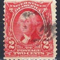 Sellos: ESTADOS UNIDOS / USA 1932 - GILBERT STUART - CARMÍN OSCURO DE 2 CENTS - USADO. Lote 283318018