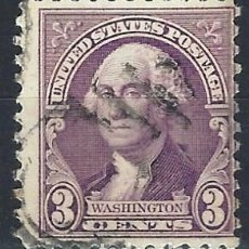 Sellos: ESTADOS UNIDOS / USA 1932 - GEORGE WASHINGTON - VIOLETA DE 3 CENTS - USADO. Lote 283318098