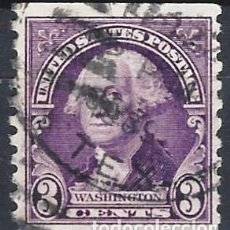 Sellos: ESTADOS UNIDOS / USA 1932 - GEORGE WASHINGTON - VIOLETA DE 3 CENTS - USADO DENTADO VERTICAL. Lote 283318238