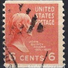 Sellos: ESTADOS UNIDOS / USA 1938 - PRESIDENTES - USADO DE RULETA. Lote 283319073