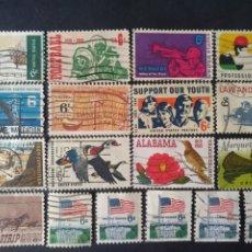 Sellos: USA, 35 SELLOS DIFERENTES, PERIODO 1967-69. Lote 288501283
