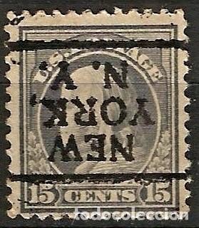 EEUU - BENJAMIN FRANKLIN - 1910 - 15C - NEW YORK / NEW YORK - INVERTIDO (Sellos - Extranjero - América - Estados Unidos)