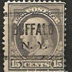 Sellos: EEUU - BENJAMIN FRANKLIN - 1910 - 15C - BUFFALO / NEW YORK. Lote 288585178