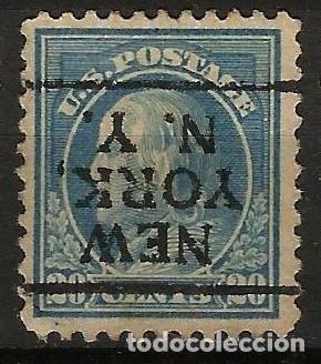 EEUU - BENJAMIN FRANKLIN - 1914 - 20C - NEW YORK / NEW YORK - INVERTIDO (Sellos - Extranjero - América - Estados Unidos)