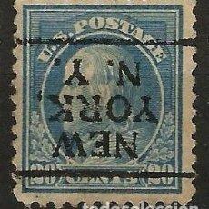Sellos: EEUU - BENJAMIN FRANKLIN - 1914 - 20C - NEW YORK / NEW YORK - INVERTIDO. Lote 288585513