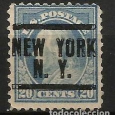Sellos: EEUU - BENJAMIN FRANKLIN - 1914 - 20C - NEW YORK / NEW YORK. Lote 288585563