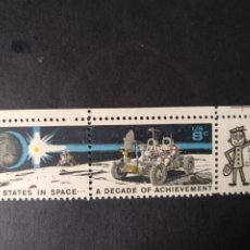 Sellos: USA, HOJITA MINT DE1971, IN SPACE. Lote 289447458