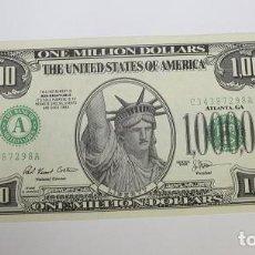Sellos: 64,, BILLETES UNITED STATES-ESTADOS UNIDOS - 1.000.000 DOLLARS 1996 (SOUVENIR) PLANCHA. Lote 289500398