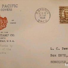 Sellos: O) 1934 ESTADOS UNIDOS, EE. UU., WARREN G. HARDING, IMPRESIÓN ROTATIVA, PACÍFICO AMERICANO, HONOLULU. Lote 289529163
