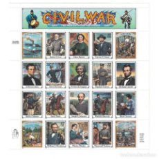 Sellos: ⚡ DISCOUNT USA 1995 CIVIL WAR- THE WAR BETWEEN THE STATES, 1861-1865 MNH - WARS, GENERALS. Lote 289931578