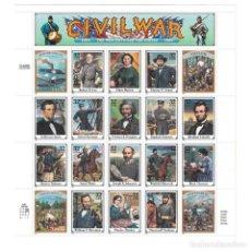 Sellos: USAML2687 USA 1995 MNH CIVIL WAR- THE WAR BETWEEN THE STATES, 1861-1865. Lote 293379468