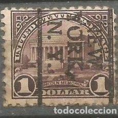 Selos: EEUU 1922 - MEMORIAL DE LINCOLN - 1$ - NEW YORK / NEW YORK. Lote 293692588